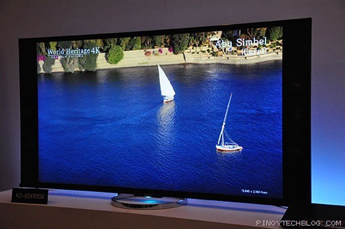 Sony introduces home friendly 4k bravia tvs science and for Living room with 65 inch tv