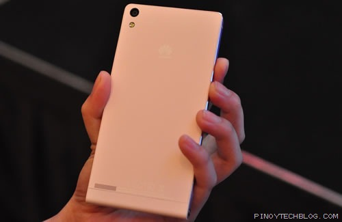 Huawei Ascend P6 Pink back