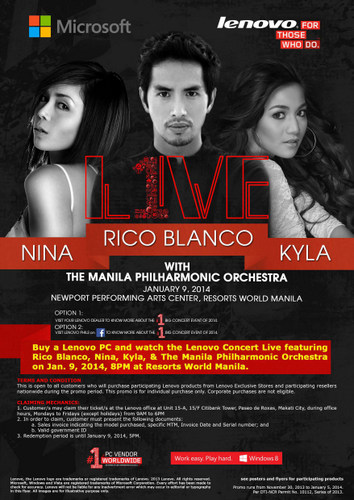 Get FREE Tickets to Lenovo Concert Live