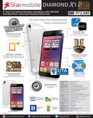 Starmobile Diamond X1 Now Available