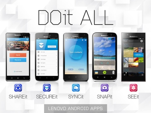 Lenovo DOit Apps – SHAREit, SECUREit, SYNCit, SNAPit Camera and SEEit Gallery