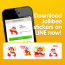Jollibee Stickers on LINE Messaging App