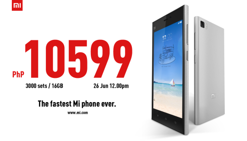 Mi3 Priced at Php 10,599 will be available via Lazada Philippines