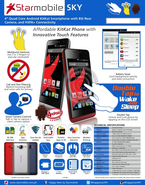 Starmobile SKY Quad Core Android KitKat Smartphone