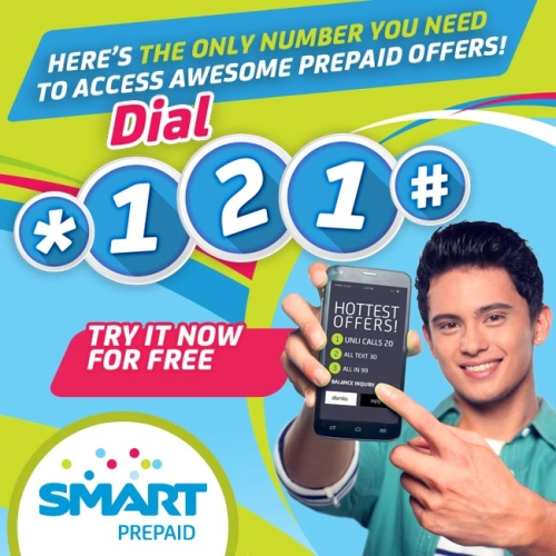 SMART *121# Prepaid Menu lets you check your balance and subscribe to UNLI and COMBO promos