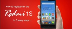 How to register for the Redmi 1S Sale on September 12