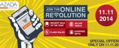 Lazada 11-11 Online Revolution, Biggest Sale of the Year on November 11