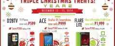 Cherry Mobile Triple Christmas Treat – FLARE LITE for Php 1,999 D28TV TV Phone for Php 599