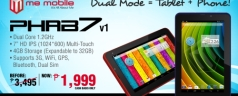 Me Mobile Rainbow 7 tablet and Phab 7 Phablet on sale for Php 1,999