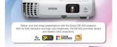 Buy an Epson EB-X03 projector and get a free CloudFone ICE 402E