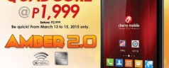 Get the Cherry Mobile AMBER 2.0 Quad Core Android smartphone for only Php 1,999