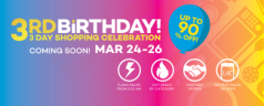 Lazada Philippines' 3rd Anniversary Sale on March 24-26