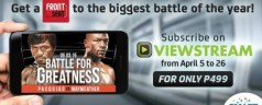 Watch Pacquiao-Mayweather fight live on your smartphone for just Php 499