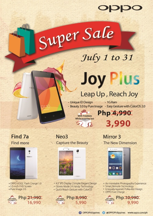 OPPO Philippines Super Sale July 1 to 30 2015