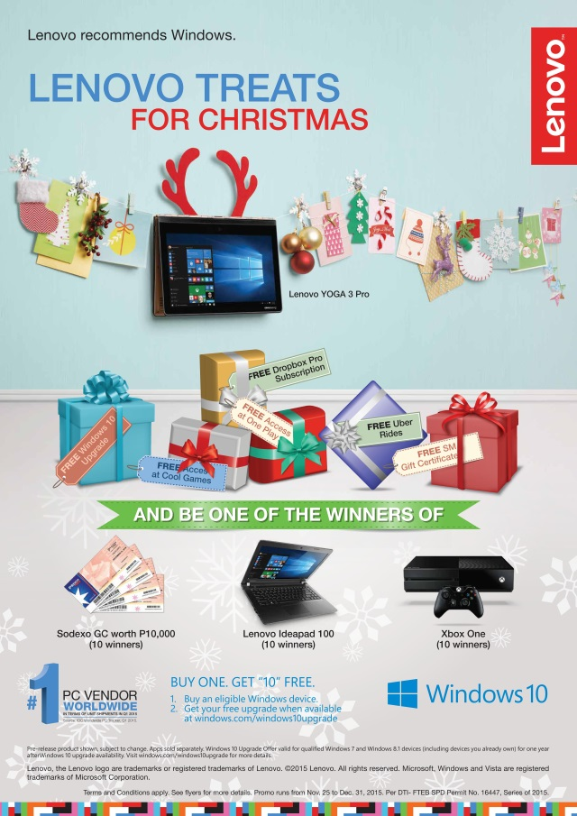 Lenovo Philippines Christmas Promo Win10 Holiday Promo