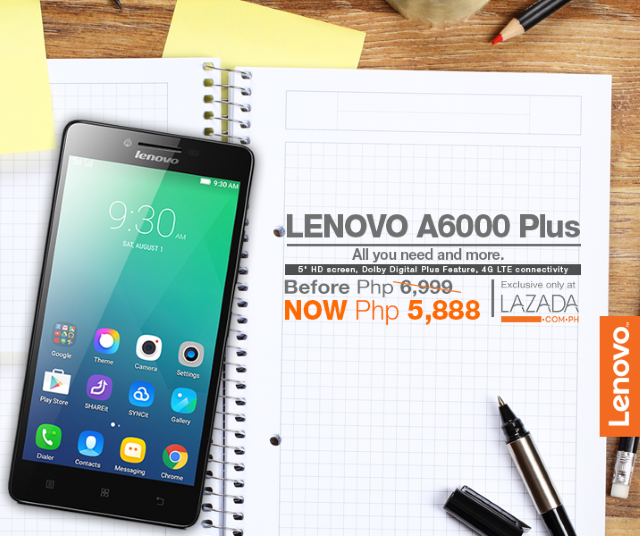 Lenovo A6000 Plus now priced at only Php5,888 for Chinese New Year
