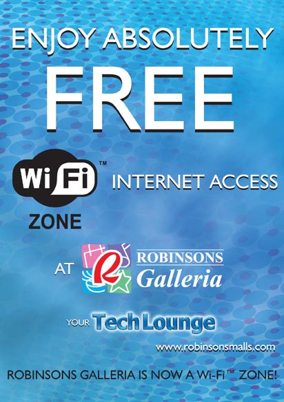 Free WiFi at Robinson\'s Galleria
