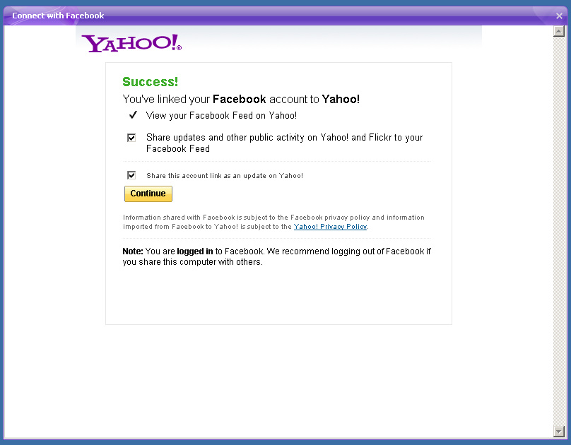 Chat with your Facebook friends in Yahoo! Messenger 11 0