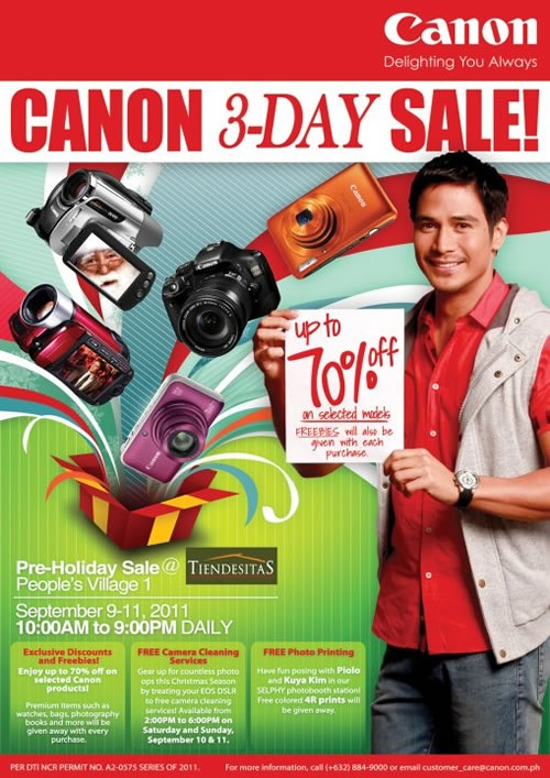 Canon 3-day sale