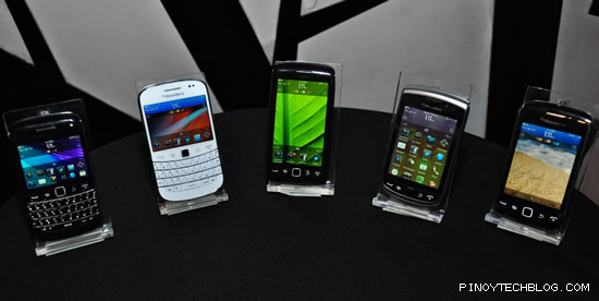 2012 BlackBerry Phones