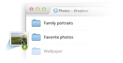 drag and dropbox