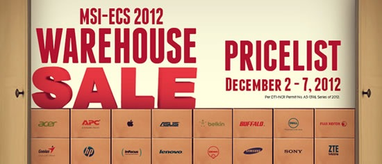 msi-ecs warehouse sale
