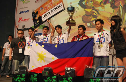 Team DC Smackdown winning the gold for Counterstrike: GO at the Asian Cyber Games 2012