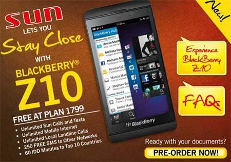 BlackBerry-Z10-Sun