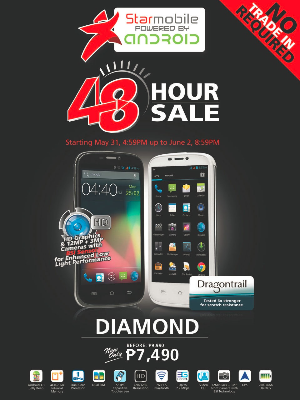 5-inch Starmobile Diamond on sale for Php7,490 until June 2 only ...