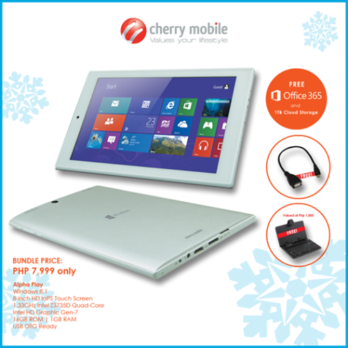 Cherry Mobile Alpha Play comes with FREE Office 365 with 1TB