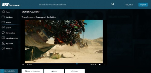 SKYbroadband lets you watch your favorite movies and TV