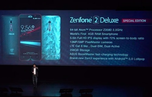 asus zenfone 2 deluxe with 256GB special edition