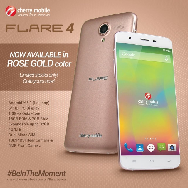 cherry mobile flare 4 rose gold