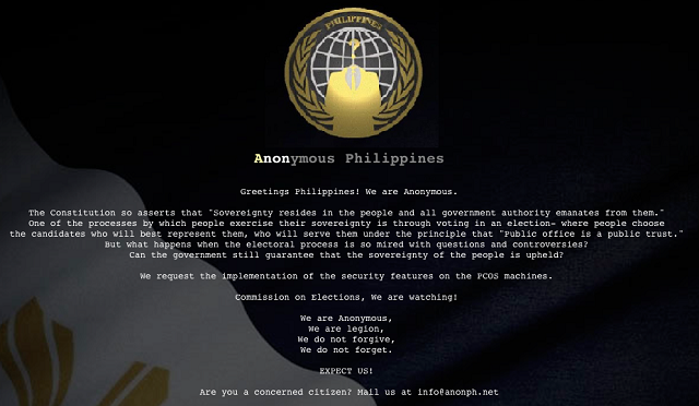 Anonymous Philippines and COMELEC