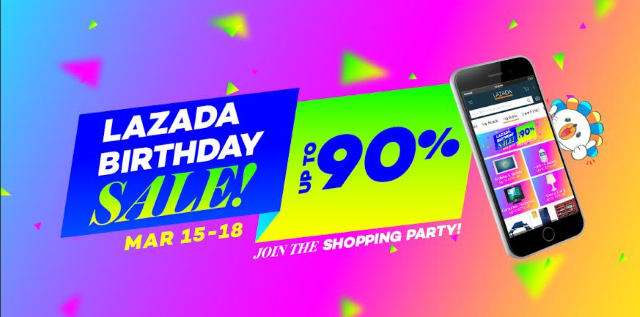 Lazada 4th Anniversary Sale on March 15 to 18, 2016