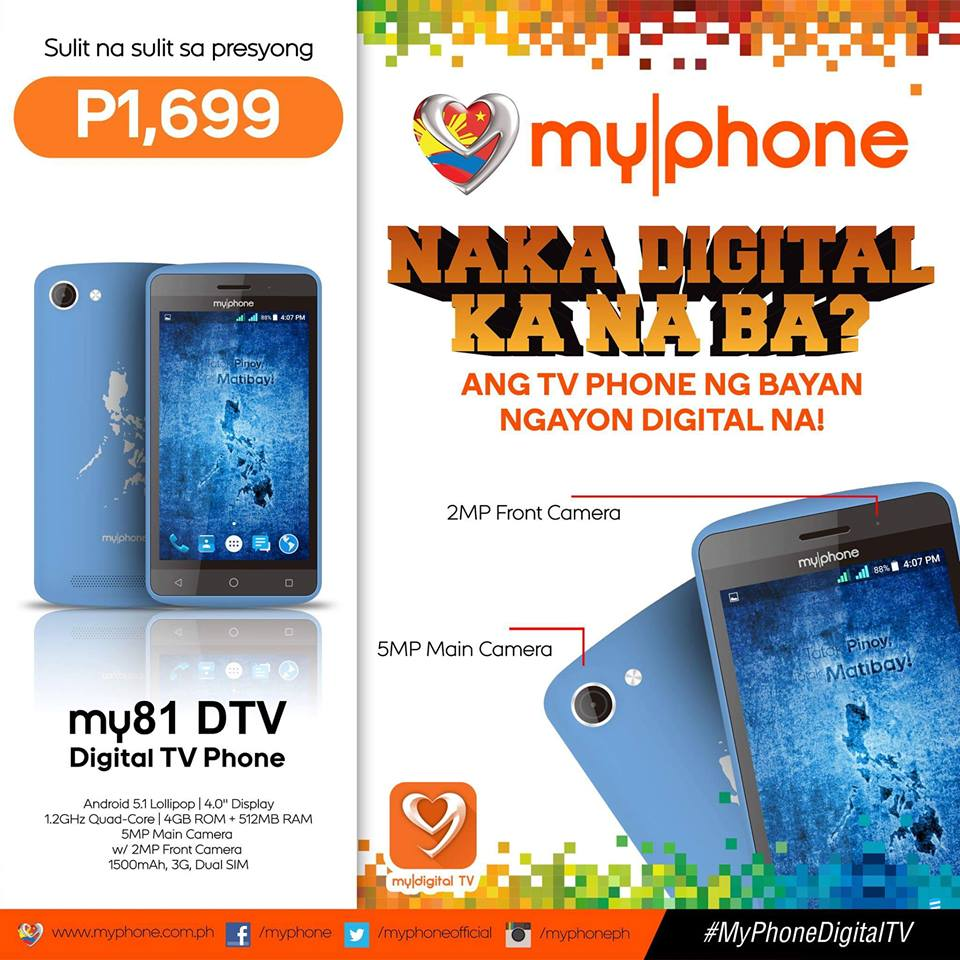 MyPhone Releases My81 and My82 DTV