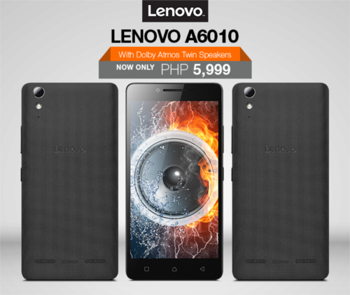 Lenovo A6010 With Dolby Atmos Twin Speakers Available Now