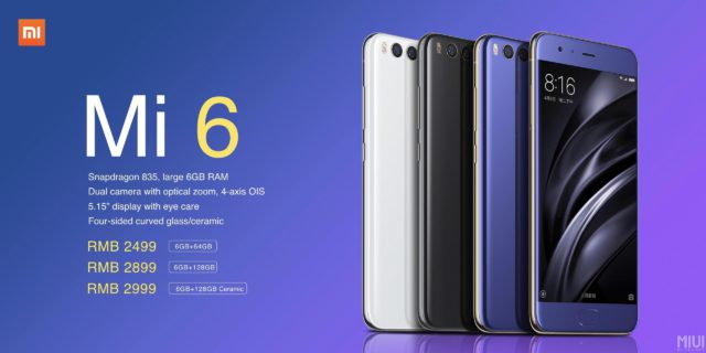 The power and the Grandeur of The Xiaomi Mi 6 Specs