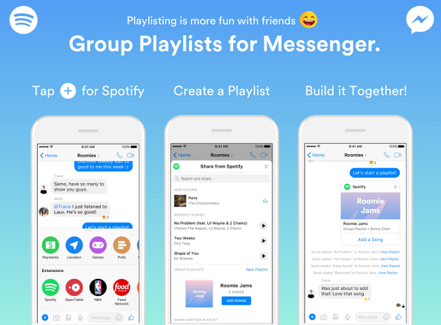 Create Shared Spotify Playlists on Facebook Messenger