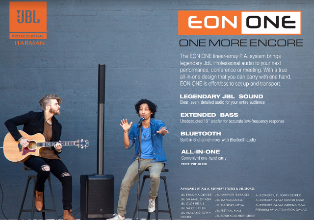 The JBL Eon One and JBL Professional 3