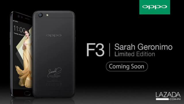 OPPO F3 Sarah Geronimo Limited Edition