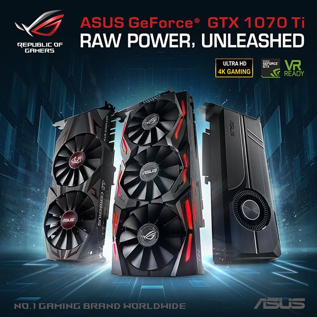 ASUS GeForce GTX 1070 Ti Series Gaming Graphics Cards Philippines