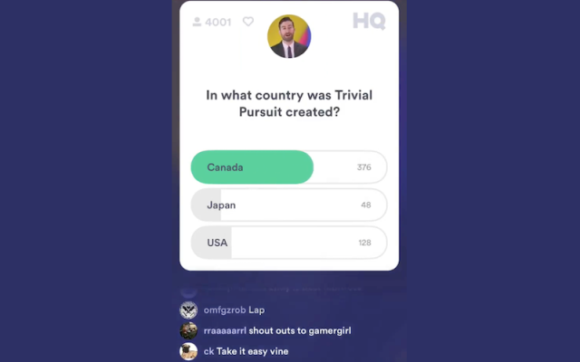 Hit Trivia Game HQ Trivia Now Available on the Google Play Store