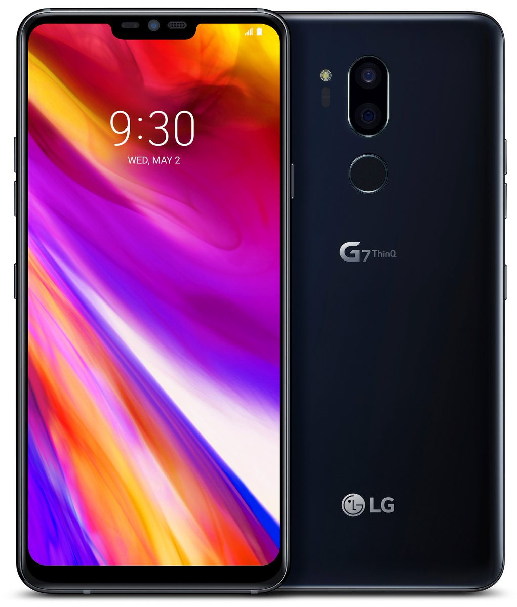 lg g7 think black version close-up render