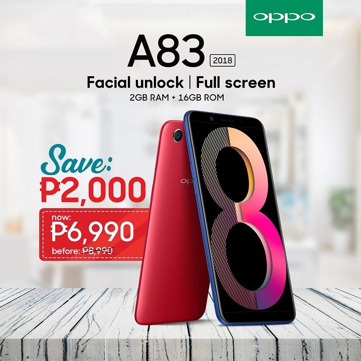 OPPO A83 2GB Philippines price markdown, now only PhP 6,990