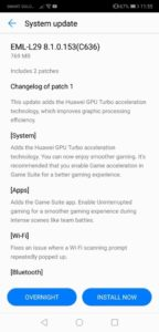 Huawei P20 GPU Turbo Update