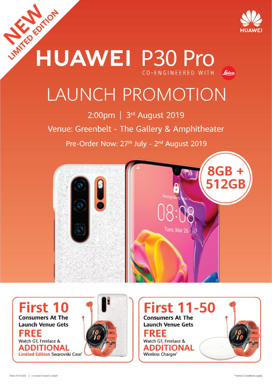 Huawei P30 Amber Sunrise Launch
