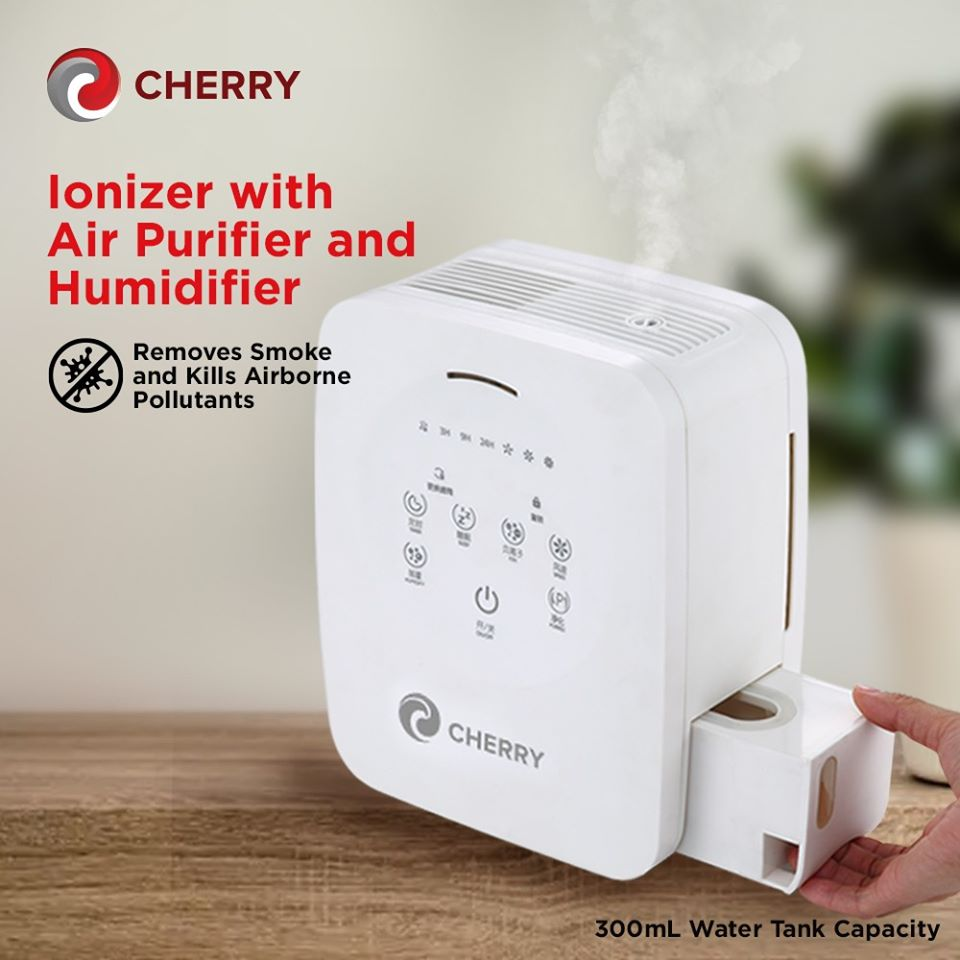 Cherry Ionizer with Air Purifier and Humidifier