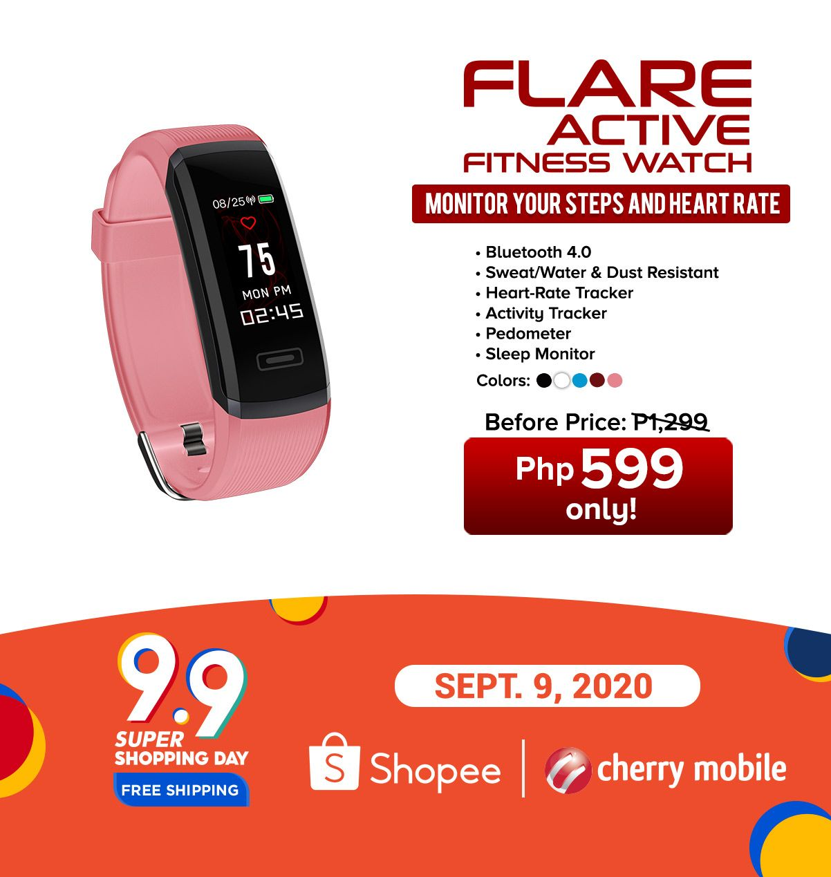 Cherry Flare Active Watch