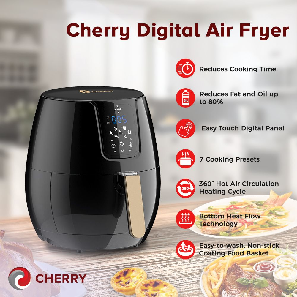 Cherry Home Digital Fryer